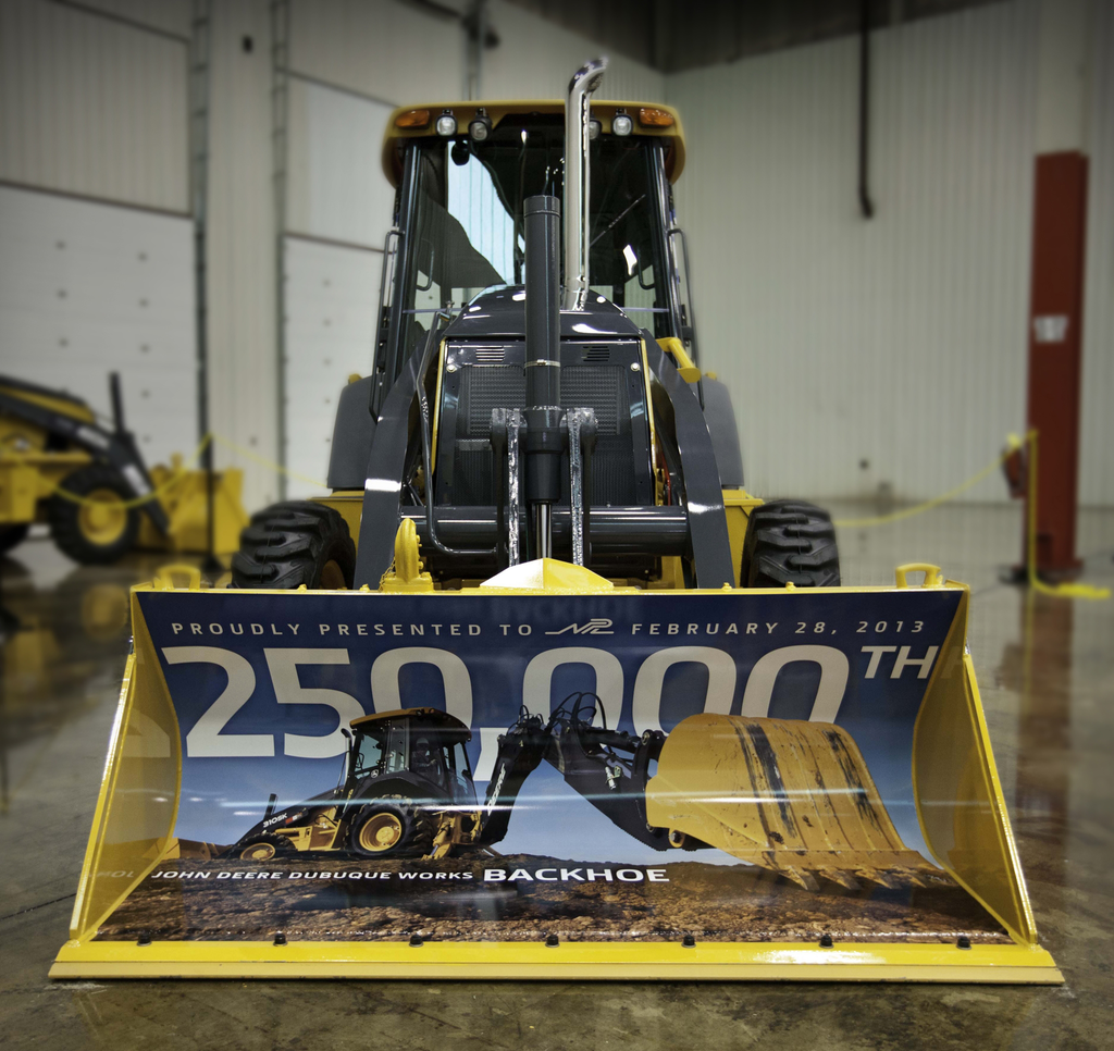 250,000th Backhoe
