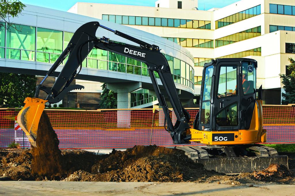John Deere's Compact Excavators Have Improved Cabs