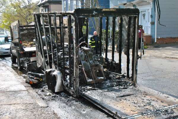 Trailer catches fire sending one to hospital for Garden maintenance trailer