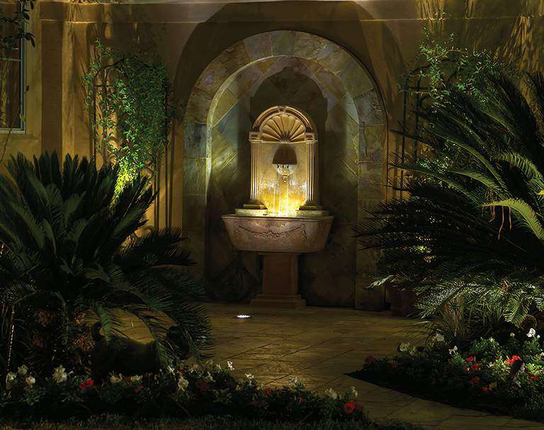 6 principles of lighting water features