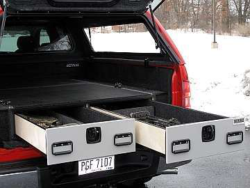 Photo Hard Working Trucks & Keep Valuables Safe in Trucks with Lockable Drawer System