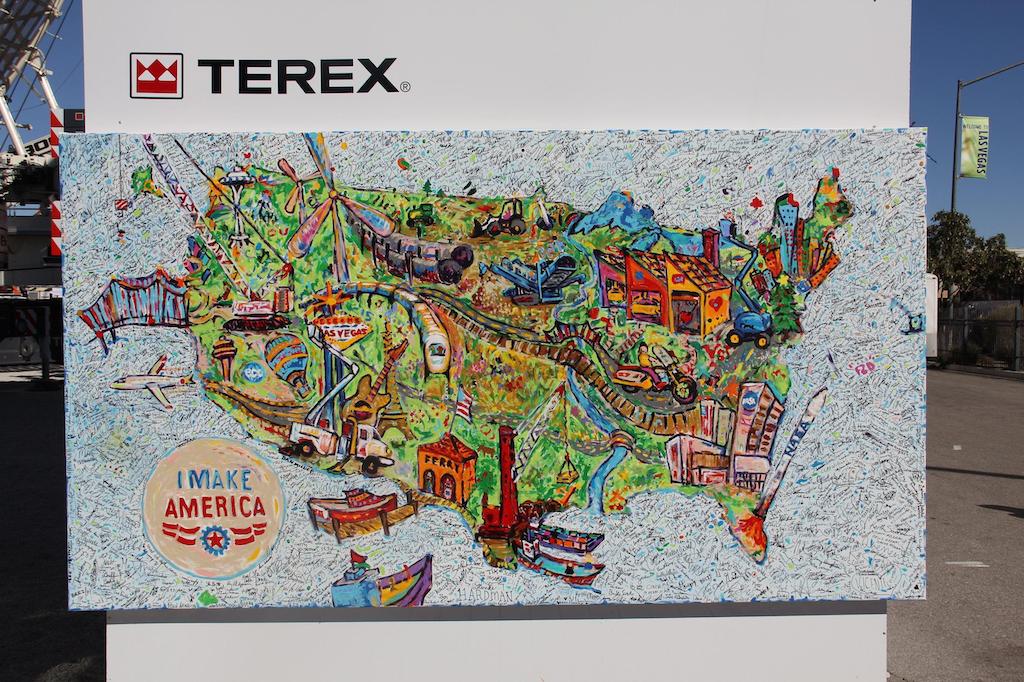 Terex's 'I Make America' Artwork to Build Awareness