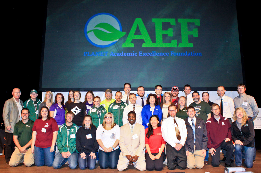 PLANET AEF Presents Scholarships, Awards at Student Career Days