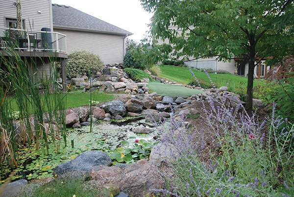 Located In Carver, Minnesota, This Backyard Project Includes A Water Garden,  Putting Green