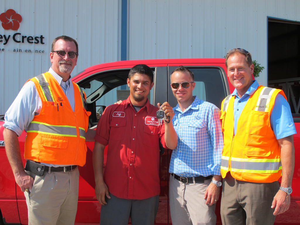 ValleyCrest Celebrates Safety Awareness Day, Awards Four Trucks to Employees