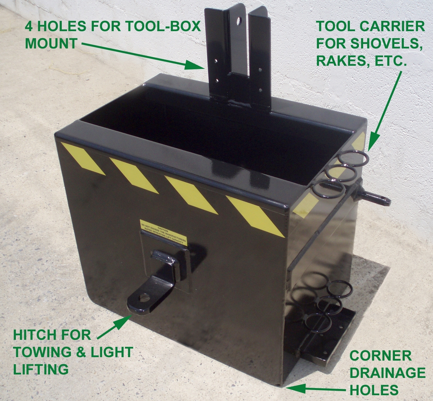 3 Point Weight Box : Earth turf products intros ballast box for compact tractors