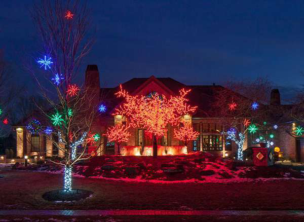 McKay Landscape Lighting installed three LED cherry blossom trees and one  16-foot and two - Trends, Tips & New Options For Improving Christmas Lighting Services