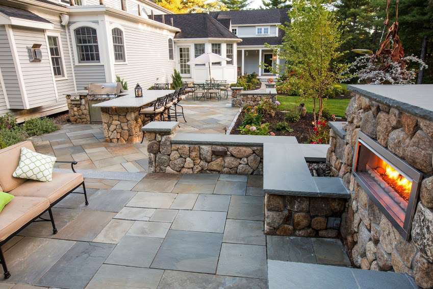 ... But Landscaper Rosado And Sons Was Able To Transform A  1,200 Square Foot Backyard Into A Functional And Relaxing Outdoor Living  Space For One Hopkinton, ...