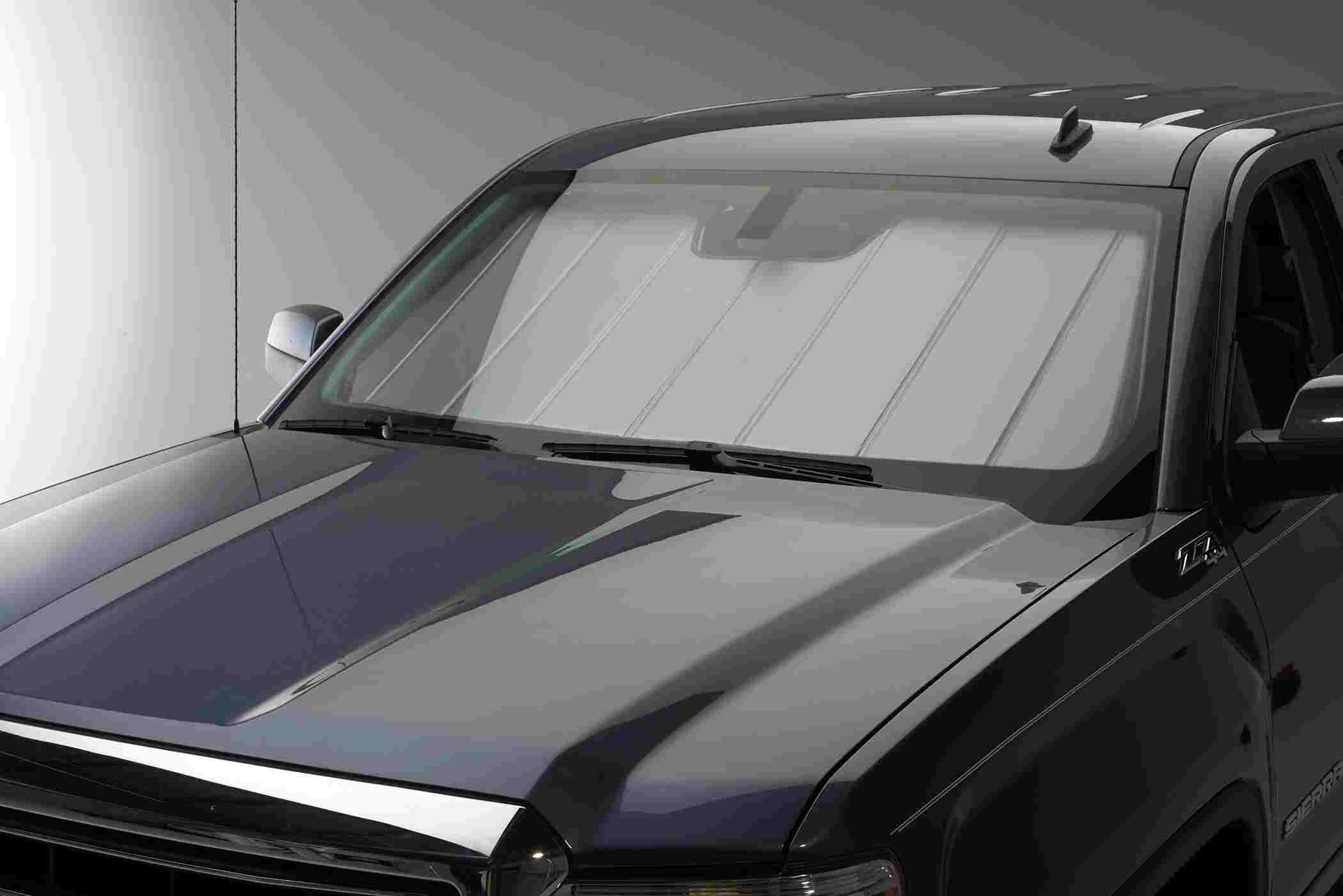 covercraft 39 s uvs100 custom sunscreens protect work trucks from uv rays. Black Bedroom Furniture Sets. Home Design Ideas