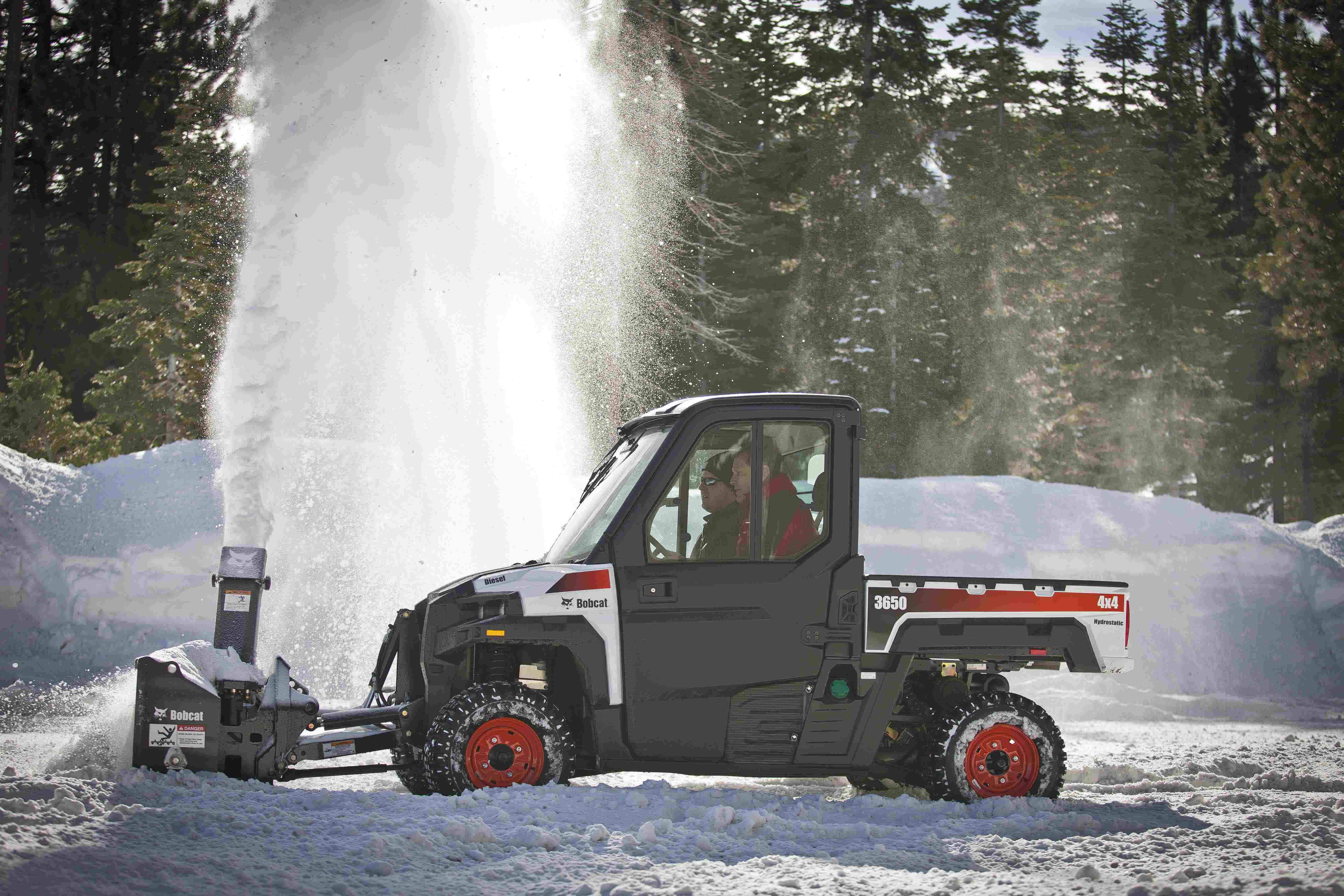Bobcat's 3600, 3650 utility vehicles feature hydrostatic drive