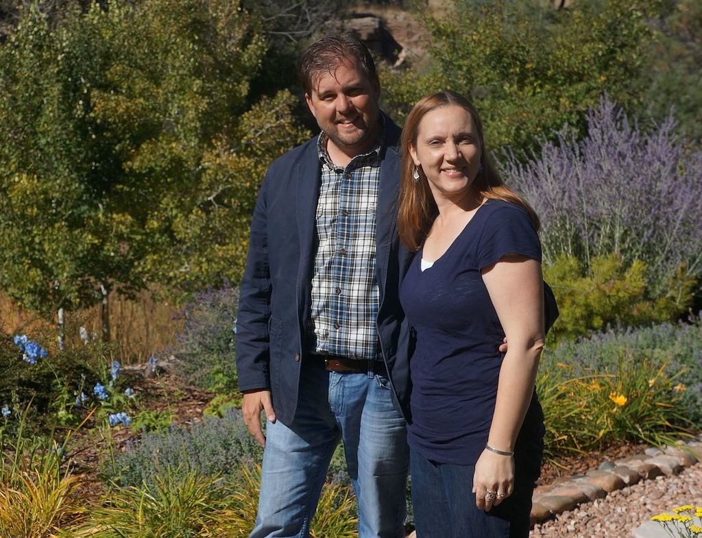 Mark G. Brotton and his wife, Lisa, of Living Water Irrigation and Landscape.