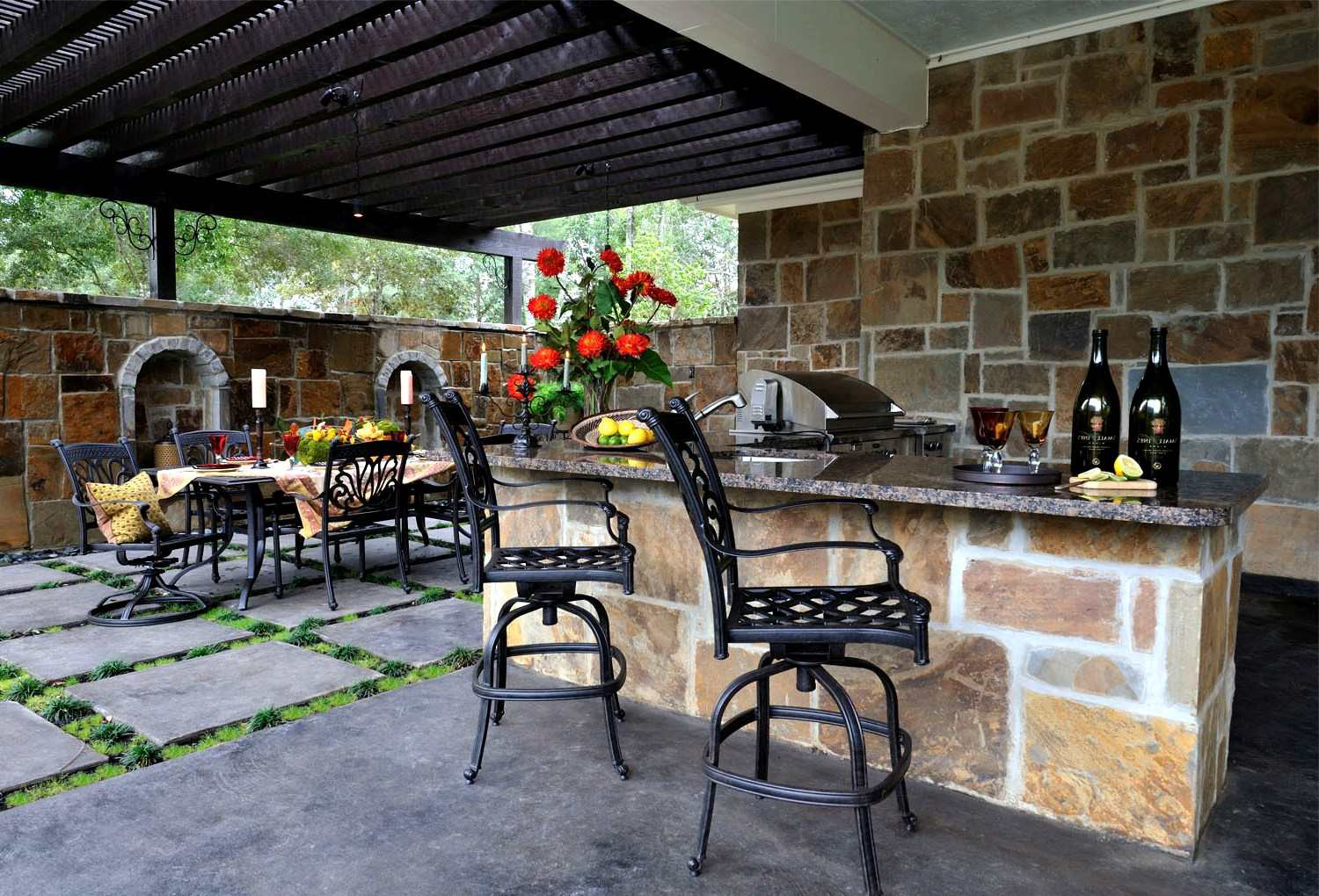 outdoor kitchen and bar designs help customers pondering outdoor kitchens stand out 7228