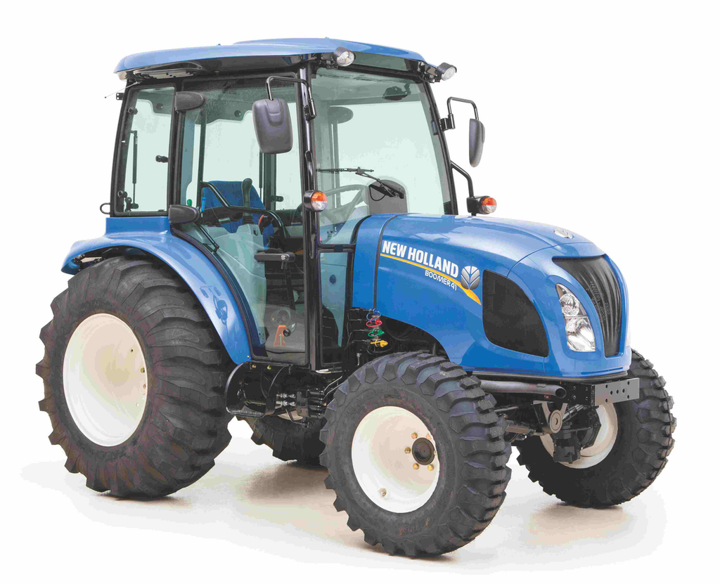 New Compact Tractor : New holland compact tractor offers comfort in the outdoors