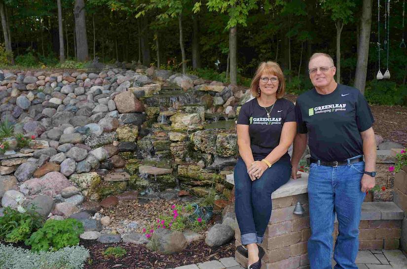 Greenleaf Landscaping & Gardens owners Dorene and Ken Schuster of Greenleaf, Wisconsin.