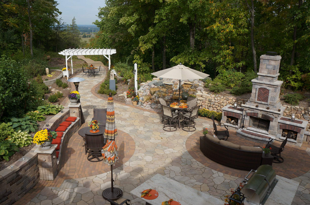 A recent project showcased Greenleaf's hardscaping skills, creating both a communal area and a path leading to an overlook ideal for private reflection.