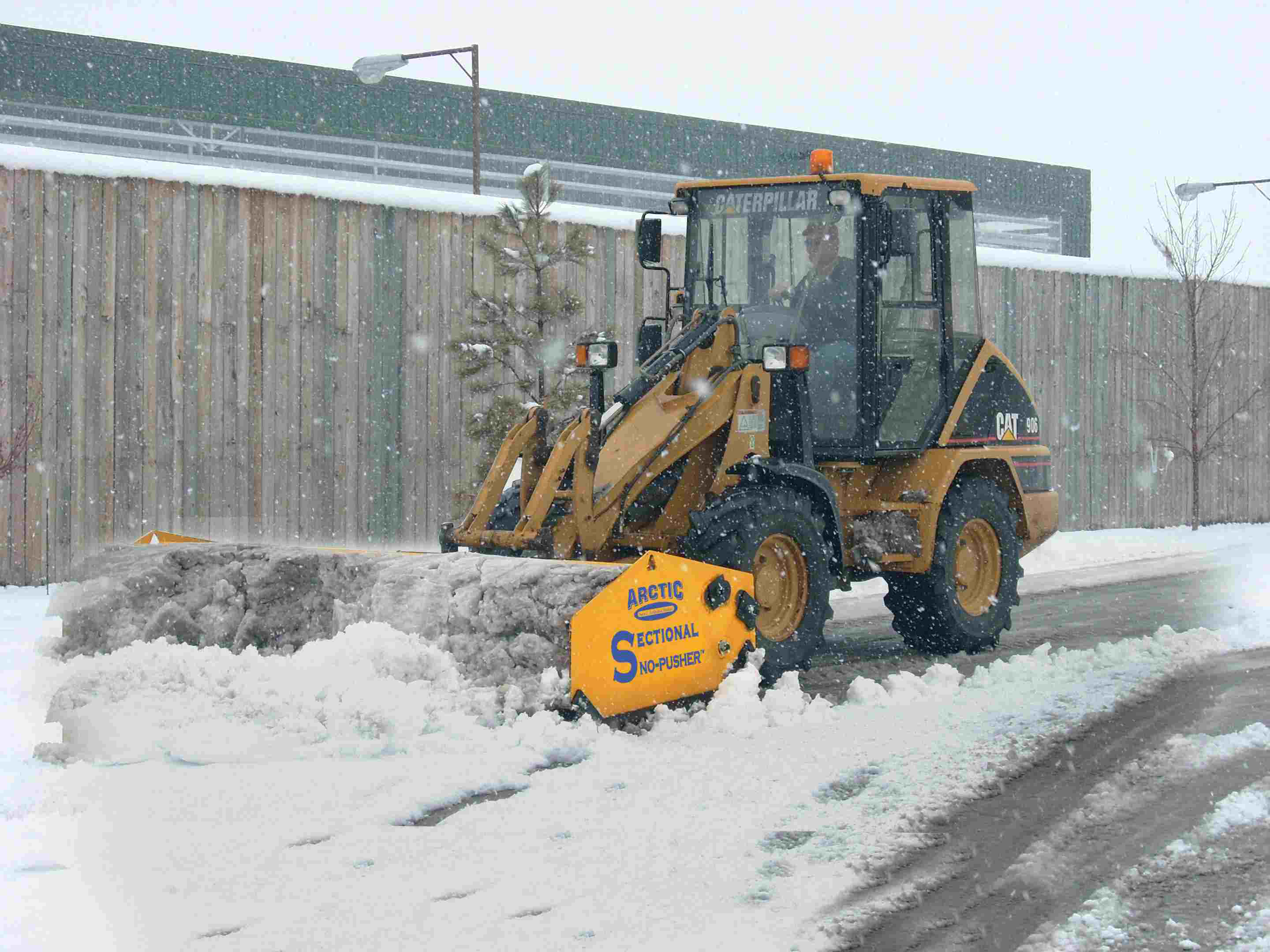 What is the best option for skid steer moving snow