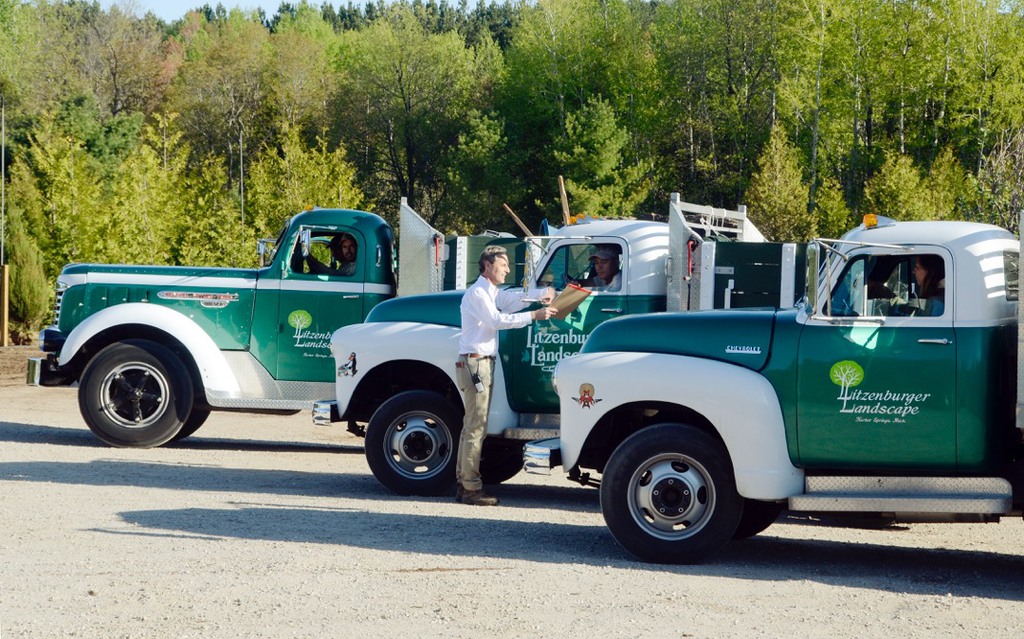 Litzenburger Landscape's vintage trucks have helped the company build brand  recognition within its small market area - Landscaper Uses Vintage Truck Fleet For Brand Recognition