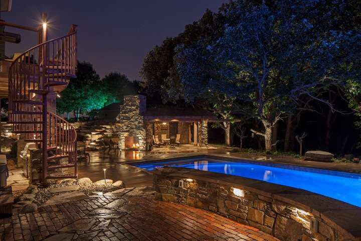 Landscape lighting is a key element of outdoor living areas enabling clients to make use