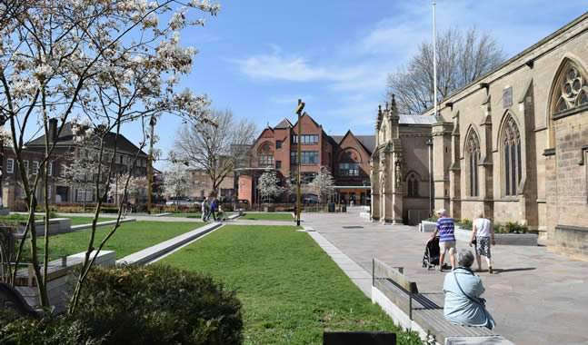 Leicester Cathedral is where the remains of Richard III, discovered in 2012, were buried in a newly constructed tomb earlier this year.