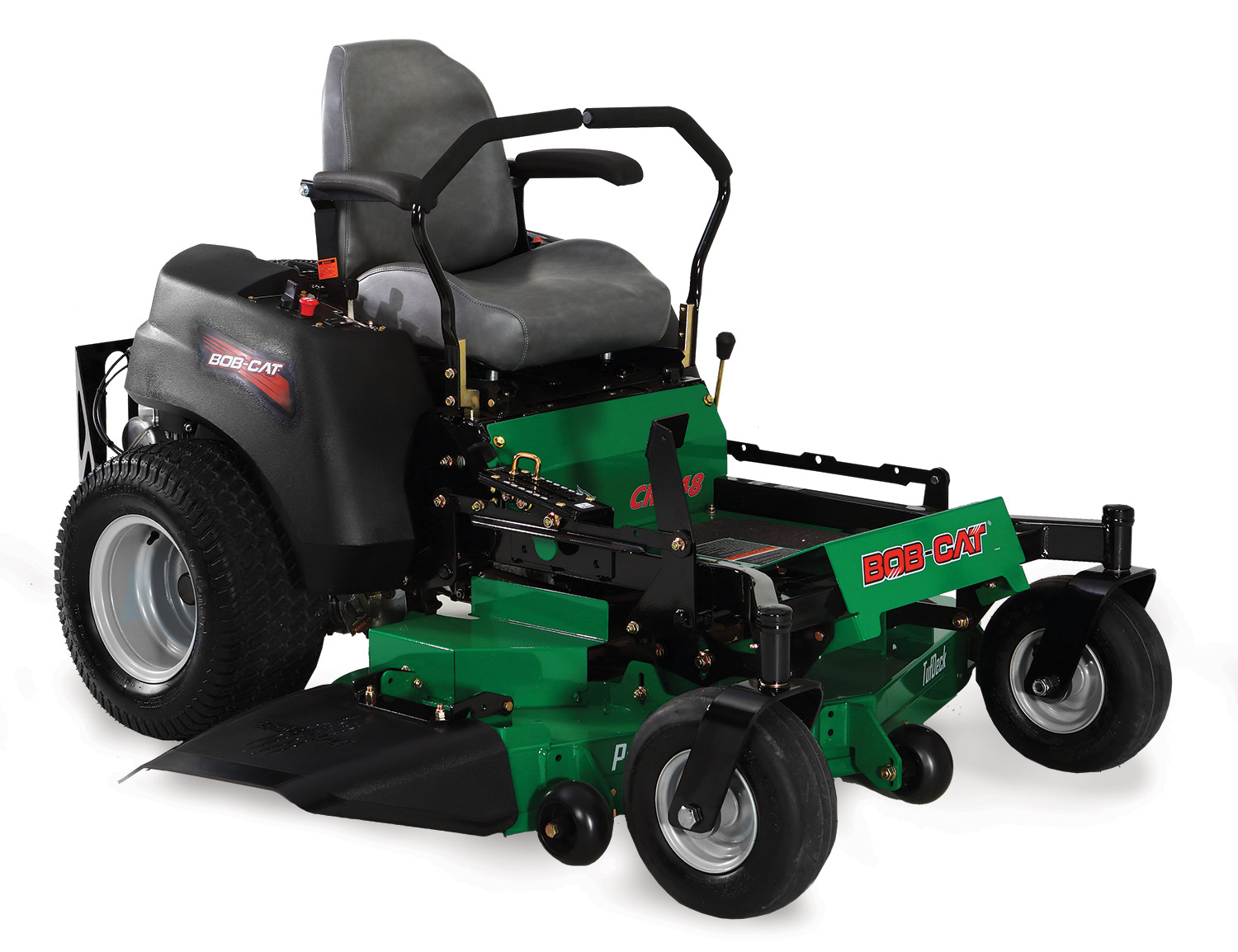 The updated Bob-Cat CRZ mower has a new seat and rear bumper, among