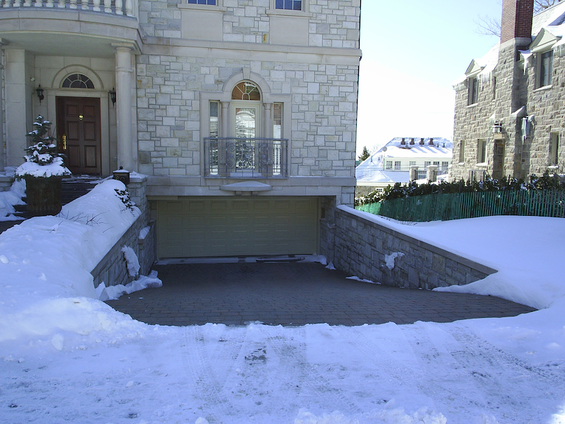 Designed for both commercial and residential settings, Emerson's EasyHeat Sno Melter mats can be installed in cement or (as seen here) under pavers to keep driveways, sidewalks and other areas clear of snow and ice.