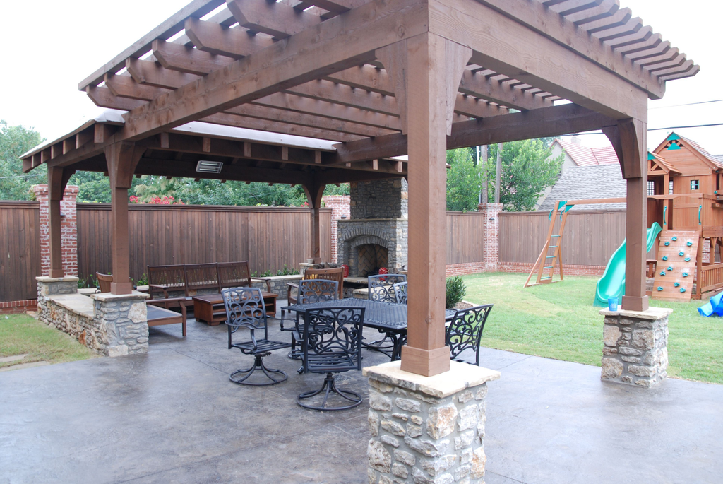 Major projects such as this outdoor living area can develop from client relationships that began with simple lawn-care jobs, Butchko says. Photo: Lauren Heartsill Dowdle