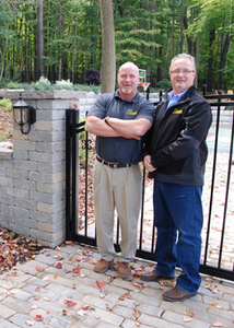 Landscaper of the Year finalist Tim O'Donnell, left, owner of T. O'Donnell Landscaping, poses with his brother Thom, who now how helps manage the business.