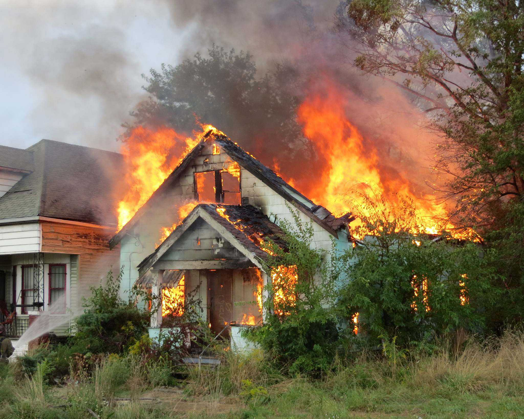 Landscapers Rush To Save Lives When Fire Starts Near A Job