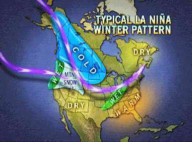Scientists believe La Nina (just what California doesn't need) is likely