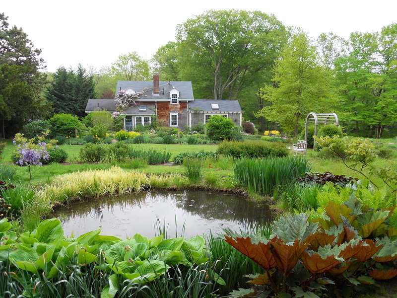 Landscape designer 39 s home bears witness to his talents for Farm pond maintenance