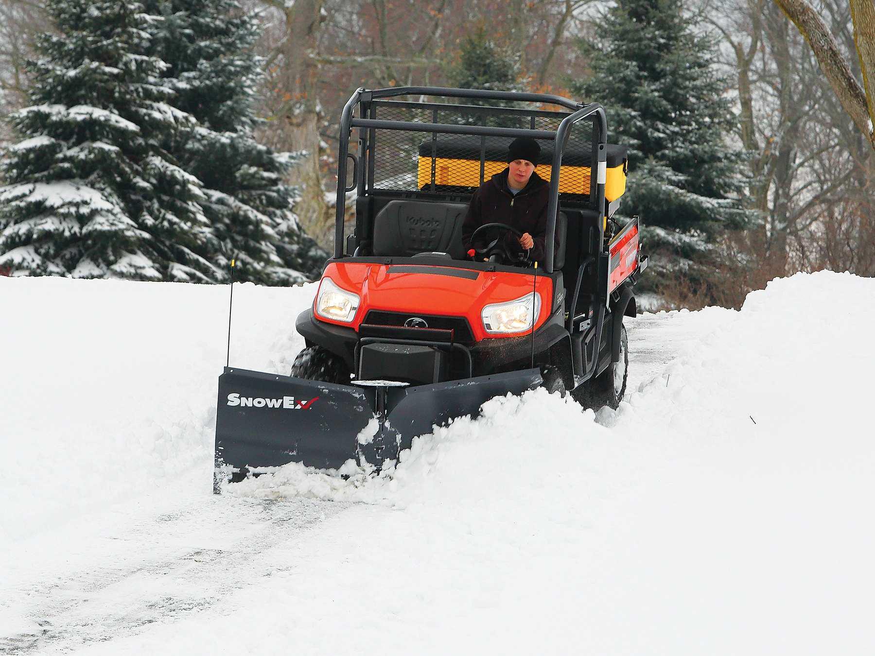 Snowex And Boss Snowplow Take On Utv Plows