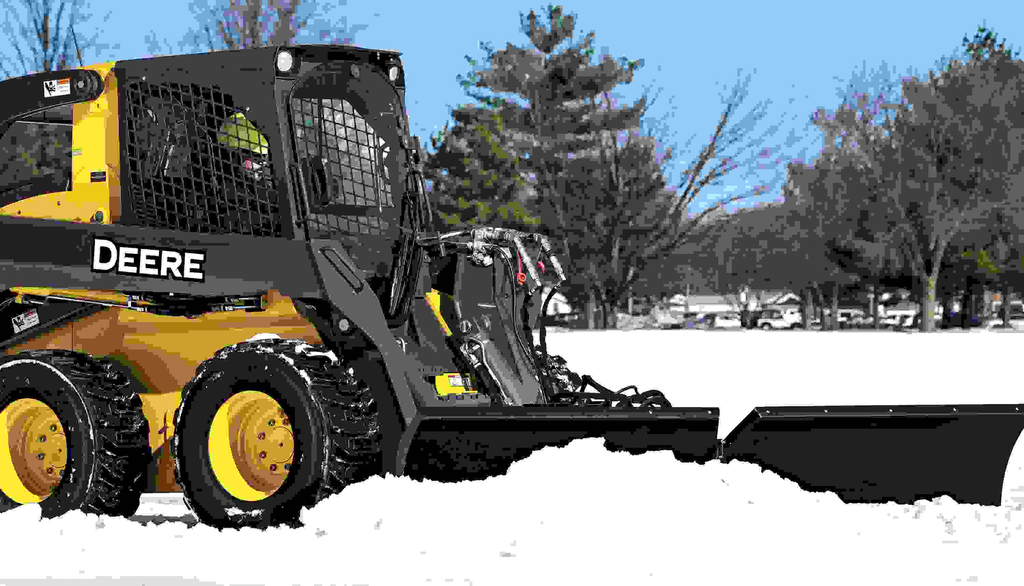 Deere adds utility V-blade attachment to Worksite Pro line