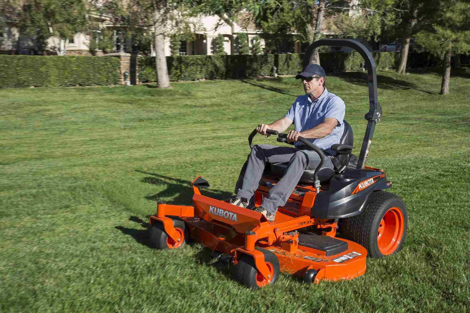 new kubota zero turn mowers roll out with speed  torque