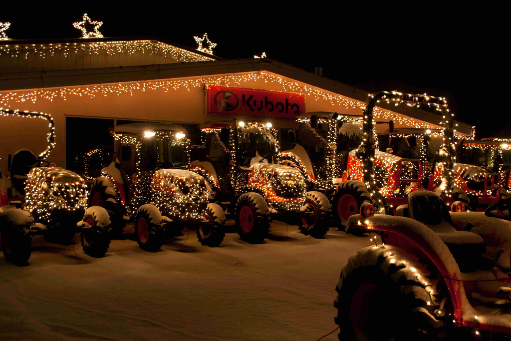 Equipment dealer decks the halls – and tractors – for charity