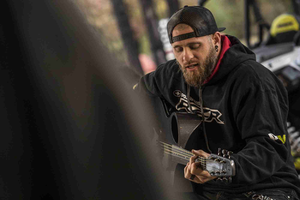 Country artist Brantley Gilbert joined the families in a day of off-roading and later performed for the group.
