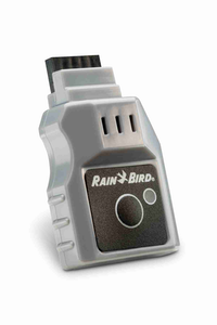 The plug-in device and mobile app provide simple irrigation management and automatic weather-based scheduling adjustments. Photo: Rain Bird