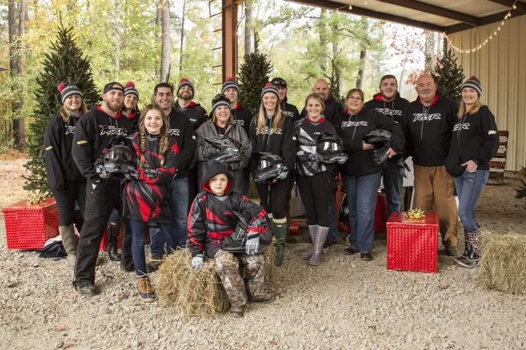 Three veterans and family members spent a day riding Polaris RZR with country star Brantley Gilbert.