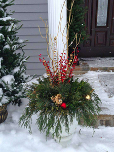 In designing holiday planters, consider a break from tradition
