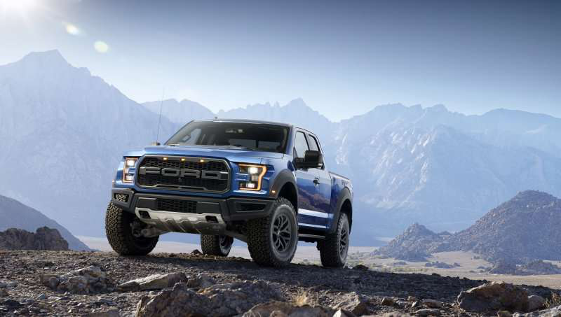 2017 Ford Raptor Parked in Mountain Range