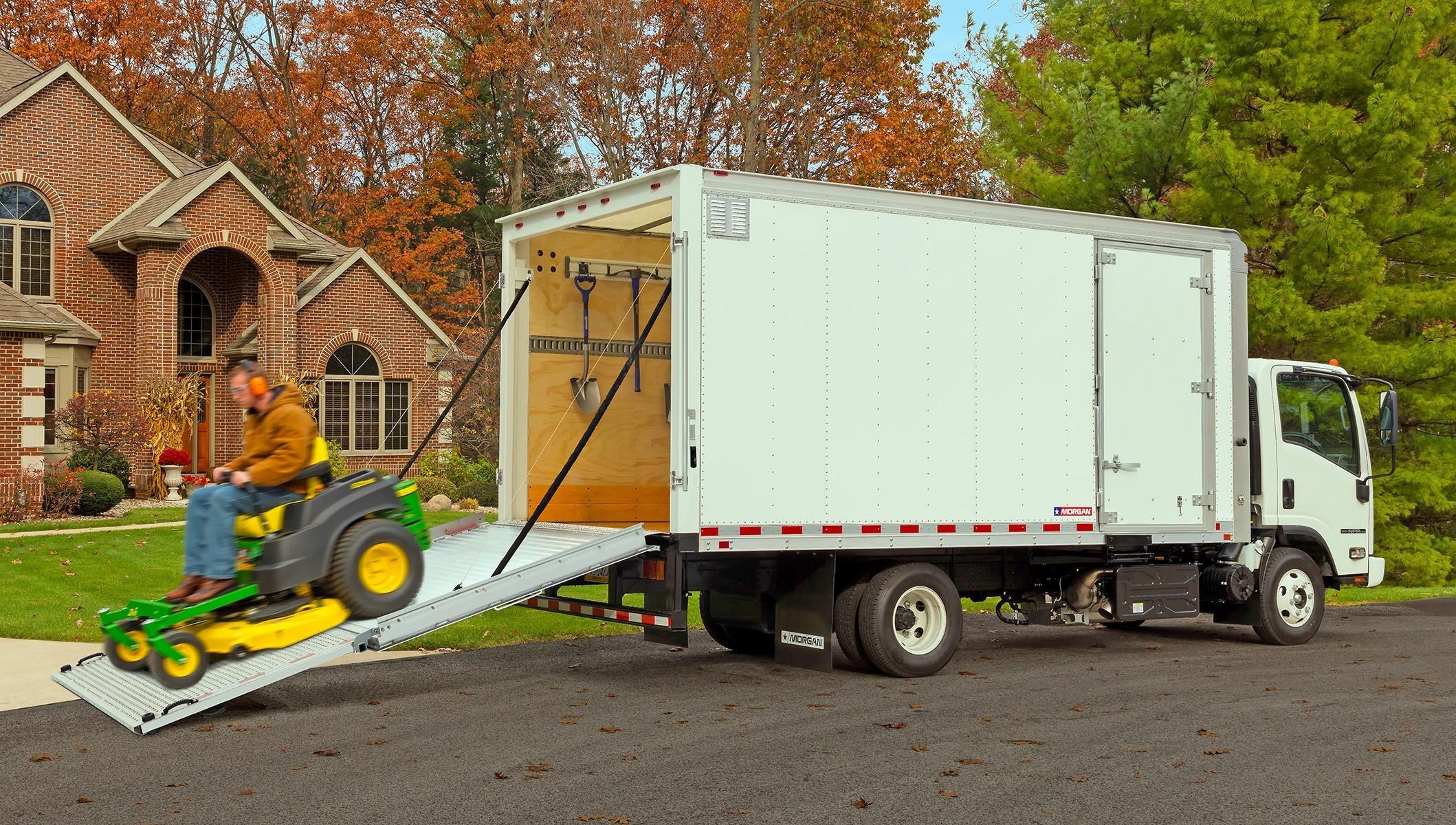 ProScape Van Unloading Mower & News roundup: Proscape-Van design for landscapers