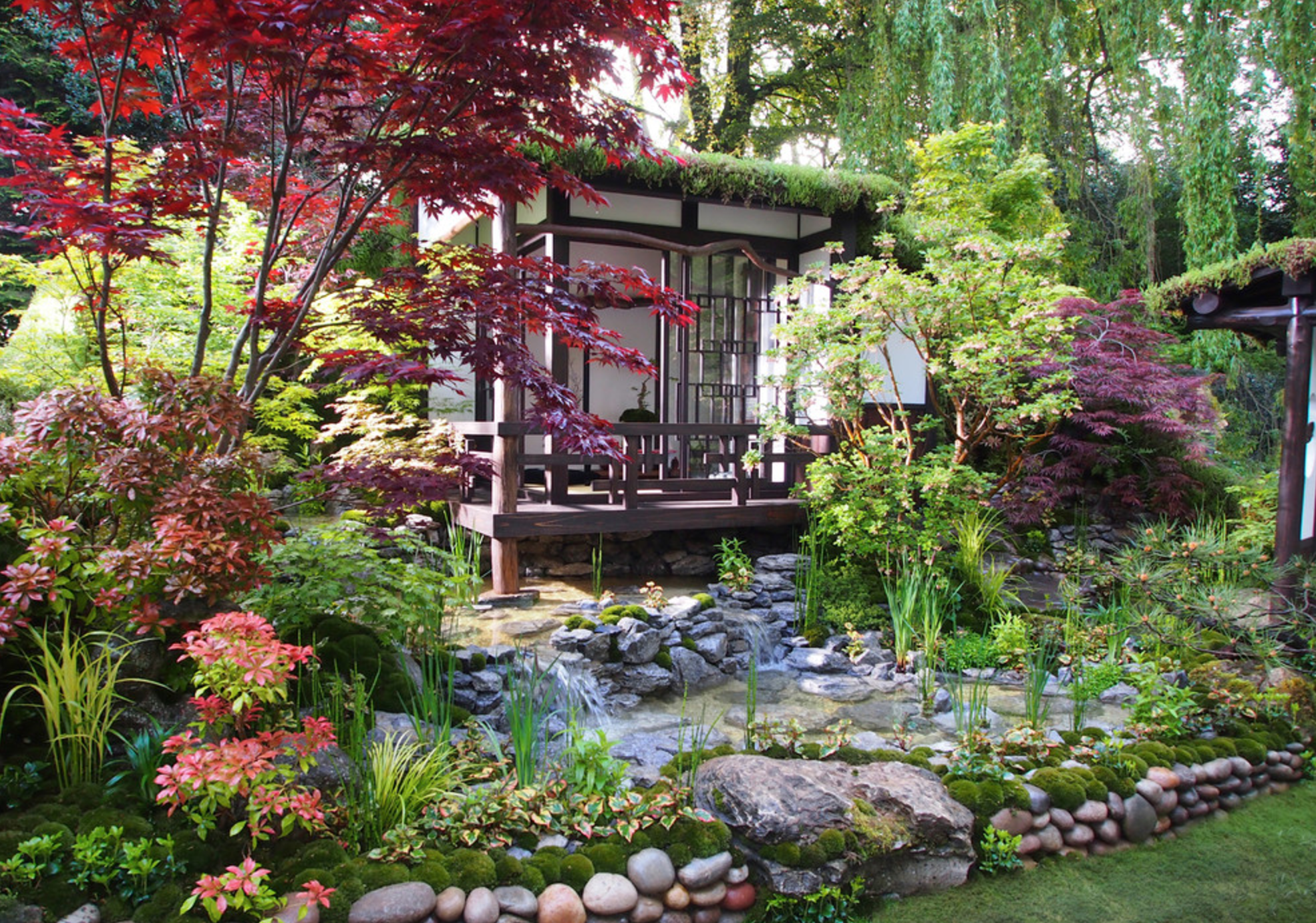 how to design a japanese inspired garden for your client. Black Bedroom Furniture Sets. Home Design Ideas