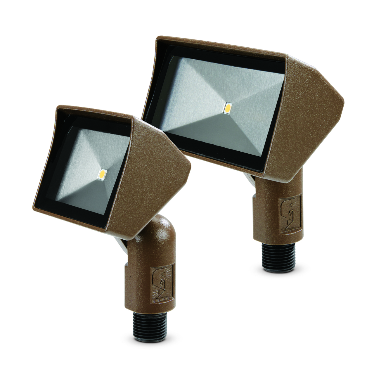Vista professional outdoor lighting adds 2 mini floodlights the companys new models come in a wide variety of colors via 16 standard polyester powder coat finishes photo vista professional outdoor lighting aloadofball Image collections