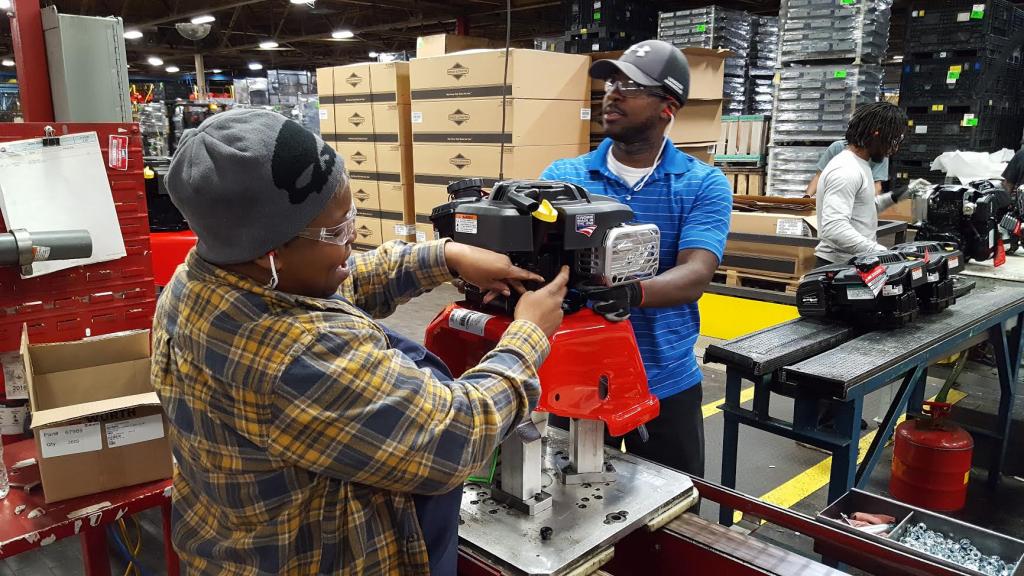 Briggs & Stratton building millionth pressure washer in their warehouse