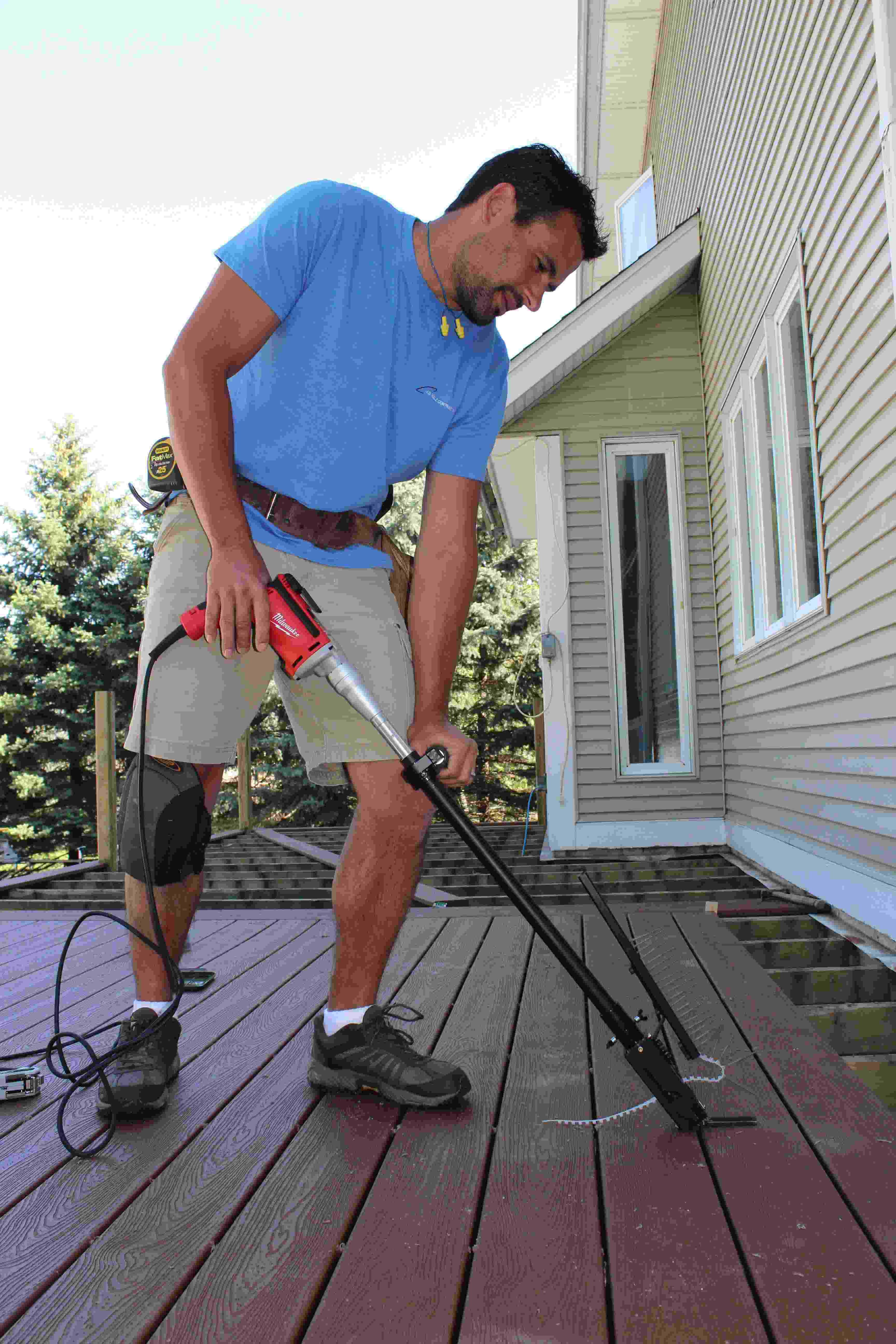 Deck Board Installation Tool ~ Camo s deck fastening system ensures smooth building