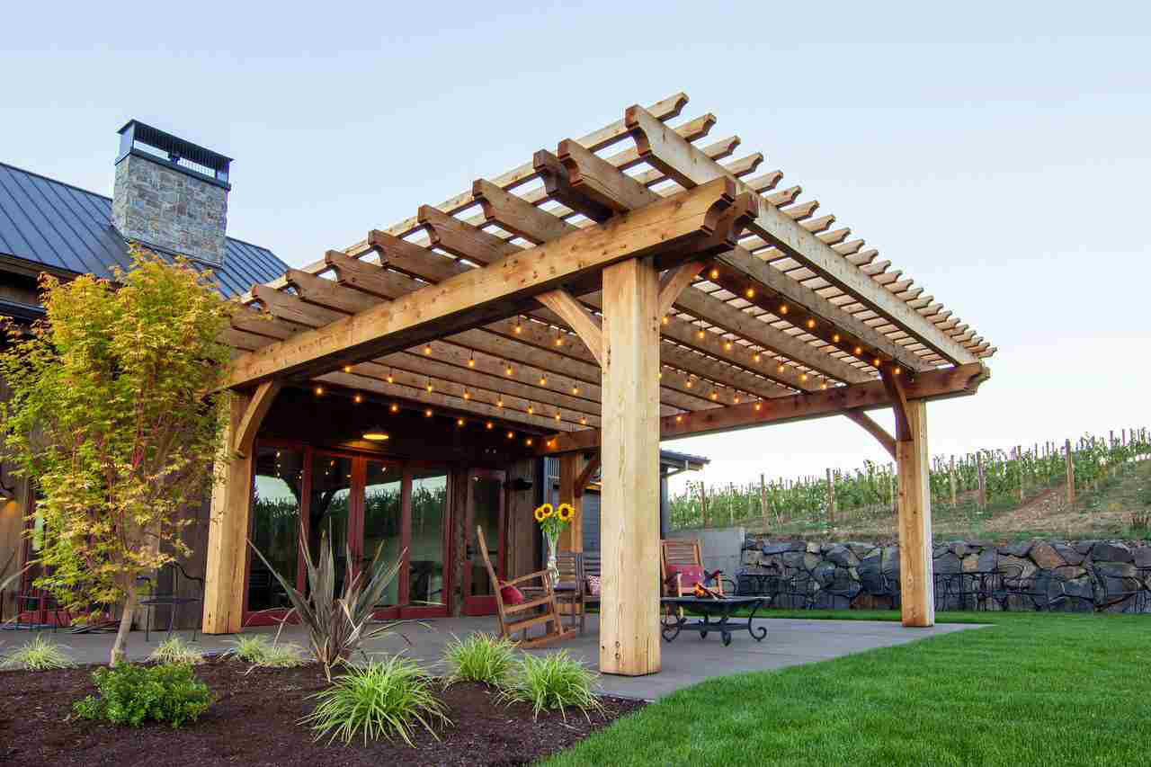 Creative possibilities are limitless when using redwood for Redwood deck plans