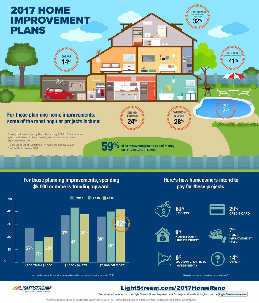 2017 Homeowner Renovations Infograph