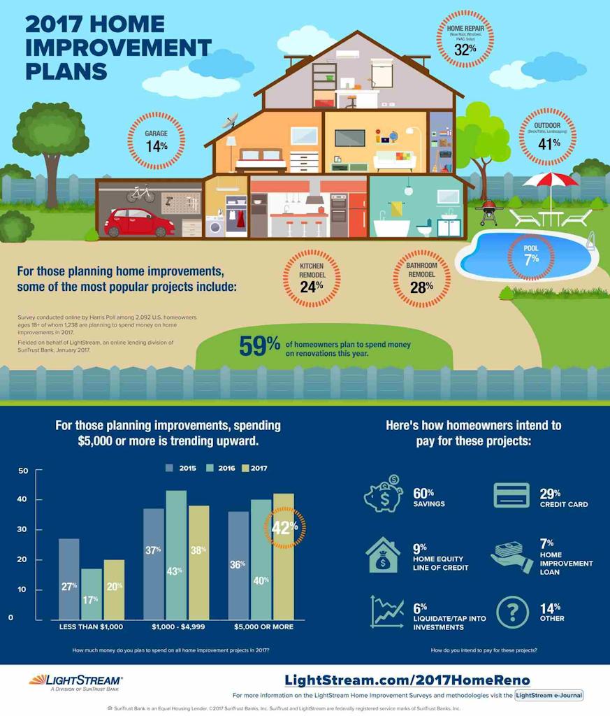 2017 Homeowner Renovations Infograph