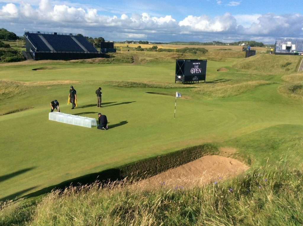 STRI Group Conducting Performance Tests on Golf Course