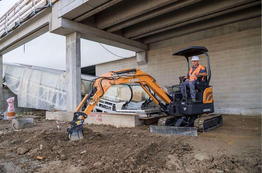 Case Construction Mini Excavator in Operation