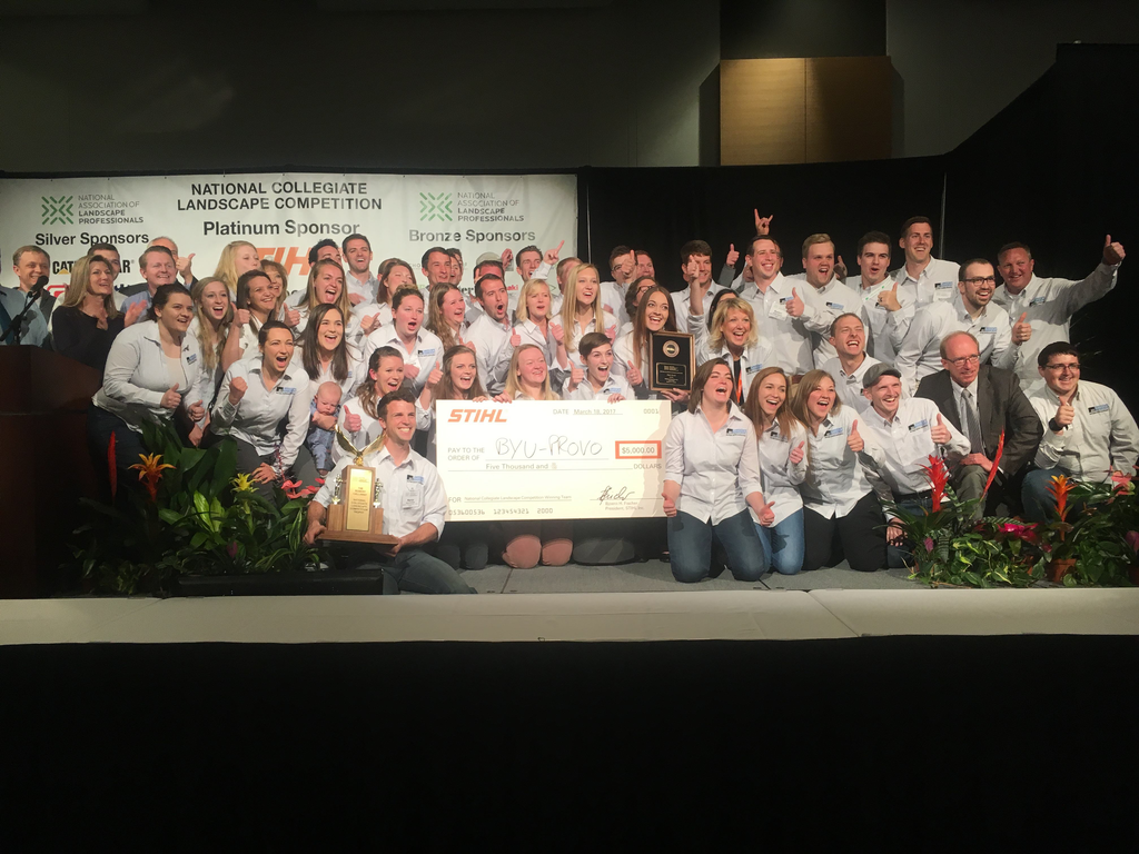 NCLC Event Where BYU Students Win Huge Check From STIHL